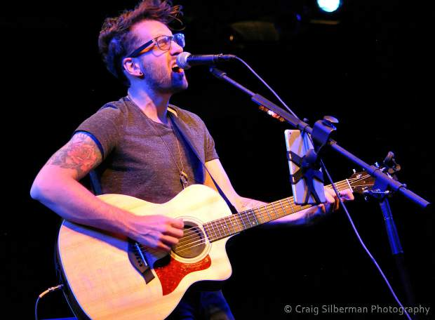Will Champlin playing at a Center for the Arts show in October.