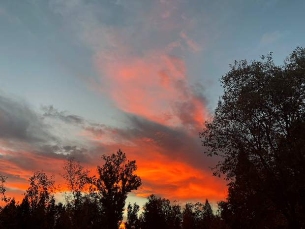 Shot of a morning sunrise from the back porch of a home on East Broad Street in Nevada City.