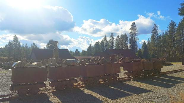 Ore carts that were used during the mining era can be seen at Empire Mines State Park.