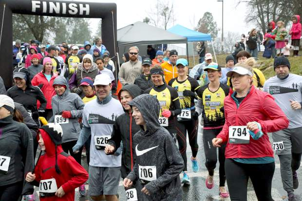 Runners participate in last year's Resolve2Run 5K/10K in Chicago Park New Years Day morning. The Resolve2Run 5K/10K is now a part of the Gold Country Grand Prix and will mark the first race of the 2018 season.