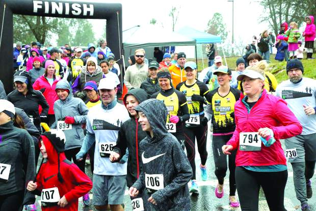Runners participate in the third annual Resolve2Run 5-10K at Chicago Park New Years Day morning. The race is a fundraiser for the Chicago Park 4-H Club.