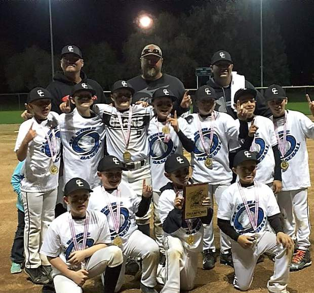 The Gold Country Bears 10U team recently won the Toys for Tots tourney championship in Sacramento in early December. The team is comprised of Jerry Andres, Masen Belding, Dominic Chiapero, Christopher DeSena, Austin Ellis, Jayce Gross, Kade Hiatt, Logan Mackey, Tyler Malak, Aiden Sloan, Aiden Panock and Zander Simpton. They are coached by Eric Belding, Joey Mackey and Derek Hiatt.