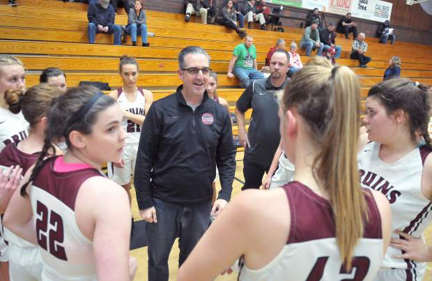 Second year head coach Randy Billingsley, middle, and the Bear River girls basketball team open Pioneer Valley League play Friday at home against Foothill.