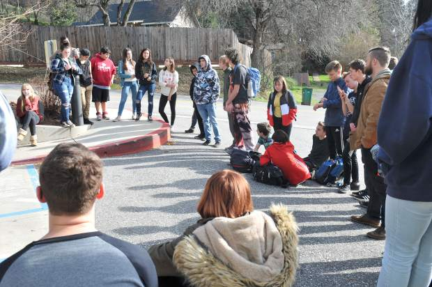 Following the initial phase of the Sierra Academy students' survive and thrive expedition, students circle around to give their thoughts and feelings about what it feels like to be admitted into a homeless shelter.