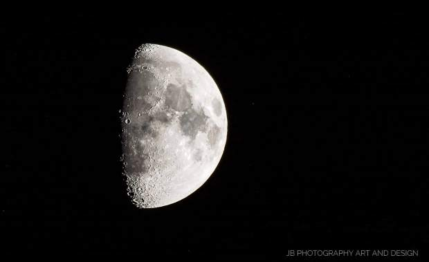 Shot of the moon taken over Grass Valley on December 29.