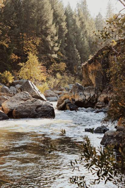 Shot of the Yuba River.