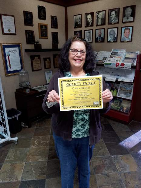 Lorrie Reinhardt was a lucky winner of two tickets to Chocolate Infusion held on January 28. She found the Golden Ticket in her copy of The Union.