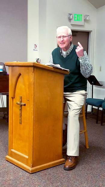 Don Denton, leading a three Sunday session series at Sierra Presbytarian Church in Nevada City on Christian women who have changed the 20th century.