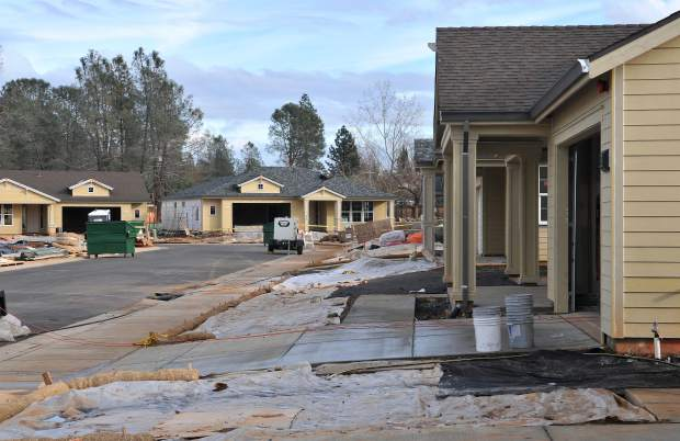 Many homes are still under construction at Ridge Meadows. Many homes in the first phase of construction have been sold, though many are still available in the coming phases of construction.