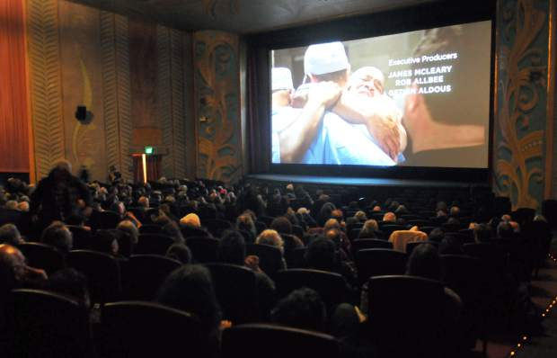 The Del Oro Theater's main auditorium was nearly full for the one-time showing of