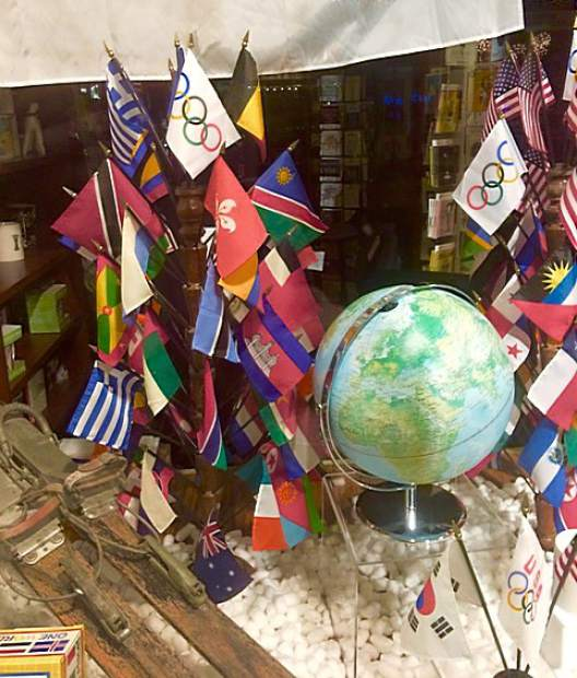 Walker's Office Supplies in Grass Valley gearing up for the Winter Olympics.
