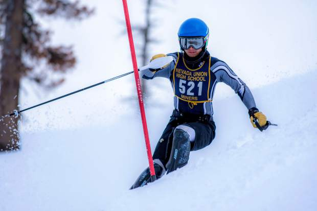 Nevada Union's Judah Good is having a strong 2018 season, earning several top-five finishes in both slalom and giant slalom races.