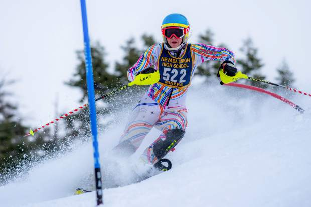 Nevada Union alpine skiier Dannah Fournier has impressed this season with multiple top-three finishes in both slalom and giant slalom races.