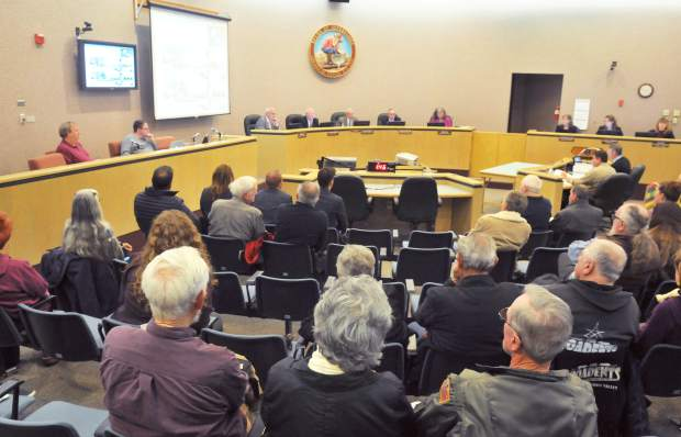 A large group of concerned community members were in attendance of Tuesday's Nevada County Board of Supervisors meeting regarding three proposed Dollar General stores.