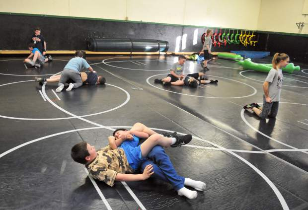 Lyman Gilmore Wrestlers practice earlier this month.