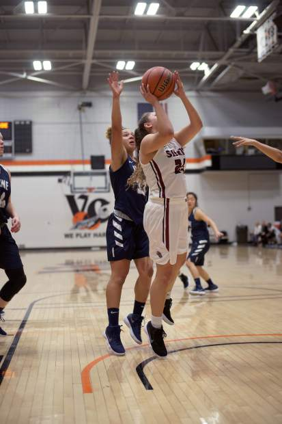 Aycee Willis goes up for two of her 18 points in a quarterfinal win over Irvine Valley College.