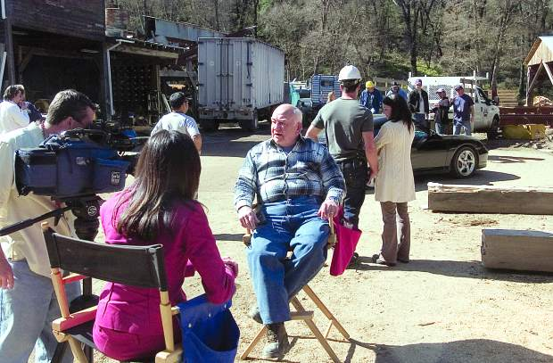 During a break of filming