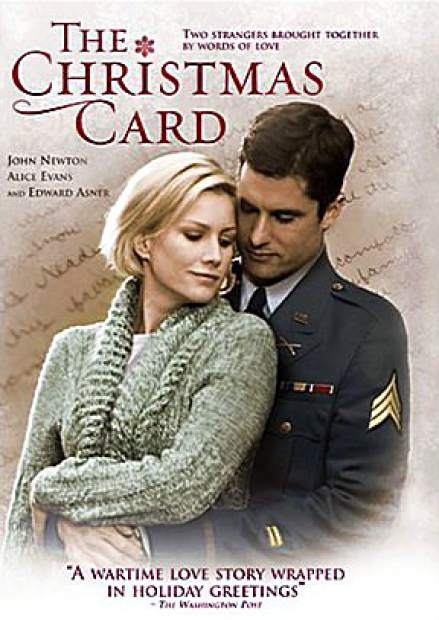 "The poster for the Hallmark Channel's ""The Christmas Card"" bills the film as ""A wartime love story wrapped in holiday greetings."""