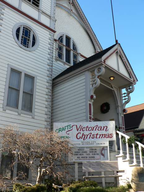 "The Nevada City United Methodist Church is visited by scores fans of the movie ""The Christmas Card"" and sells copies of the DVD."