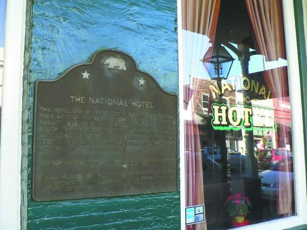 "The National Hotel in Nevada City was featured in the Hallmark holiday movie ""The Christmas Card."""