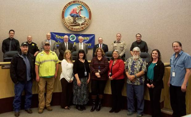 Employees of Nevada County with 15 years of service were recognized Tuesday by the Board of Supervisors.