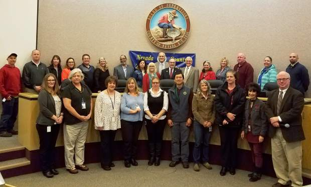Nevada County honored its employees with 10 years of service Tuesday.