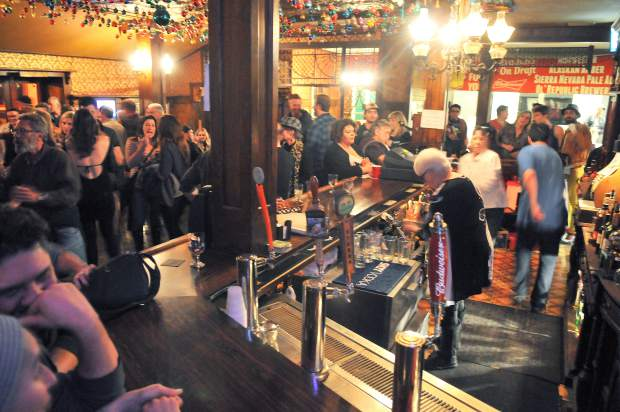 The National Exchange Hotel bar was standing room only crowd Saturday night, for the final night of operation under the hotel's former owners. A young couple has purchased the more than 150-year-old building with plans to modernize the place.