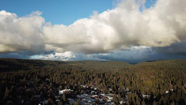 View of the clouds from Nevada City.