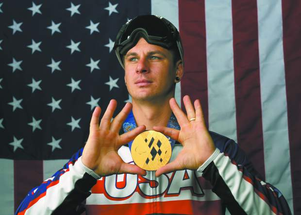 U.S. Olympic Winter Games Paralympic snowboarding hopeful Evan Strong poses for a portrait at the 2017 Team USA media summit Wednesday, Sept. 27, 2017, in Park City, Utah. (AP Photo/Rick Bowmer)