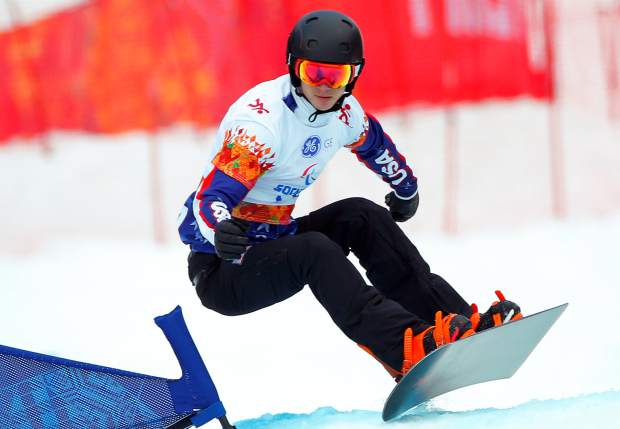 Evan Strong, a Nevada City resident, won Gold in the men's snowboard cross event at the 2014 Winter Paralympic in Krasnaya Polyana, Russia.