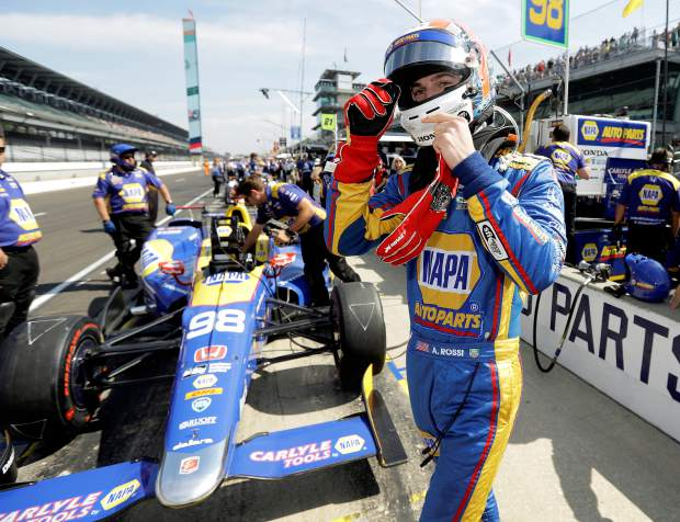 Alexander Rossi, pictured here, prepares to drive during the final practice session for the 2017 Indianapolis 500. Rossi, a Nevada City native, is set for his third season in IndyCar. The first race of the year is Sunday at the Firestone Grand Prix of St. Petersburg.
