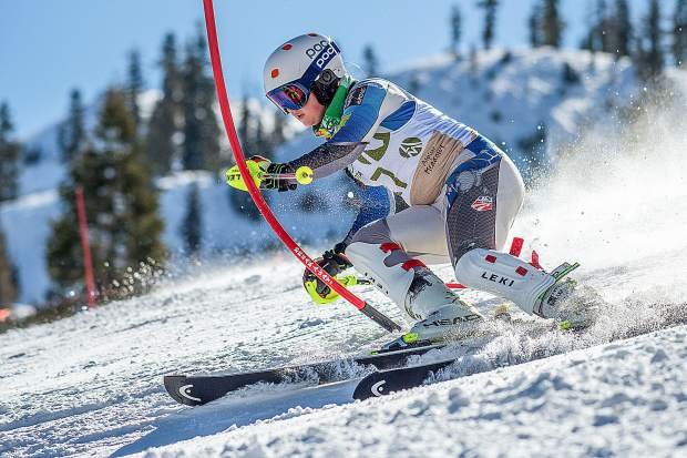 Karina Martel won both the women's slalom and giant slalom races at the CNISSF state championships in early March.