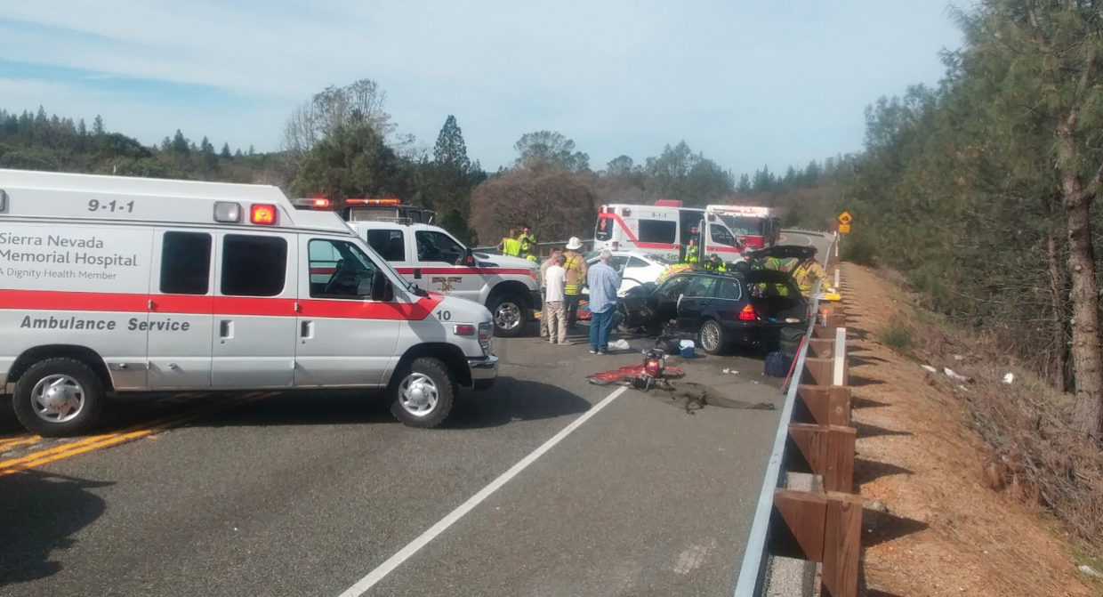 Hwy 20 at Rex Reservoir, lanes now open following vehicle wreck