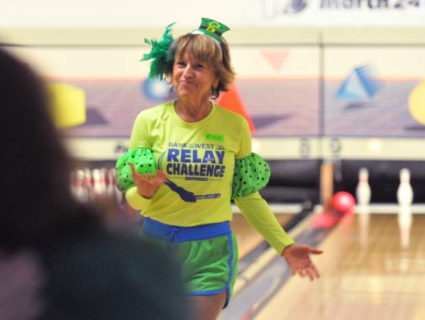 Tamara Hendrick shows off her St. Patrick's day spirit during Saturday's Shamrock Bowl.