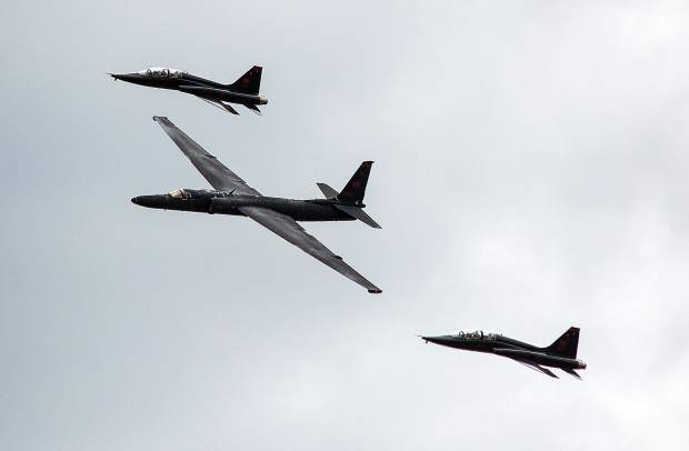 Beale's Air & Space Expo displayed a variety of aircraft and demonstrations, including a fly-by of the U-2 and T-38s from the base.