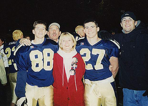Mike Bratton is being inducted into the Nevada Union Athletics Hall of Fame April 28. Bratton is pictured here with his wife Robin and sons Michael, Kevin and Joey.