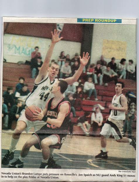 While at Nevada Union, Brandon Lampe excelled in sports as well as the classroom. The 1996 graduate and star basketball player is being inducted into the Nevada Union Athletics Hall of Fame Saturday.