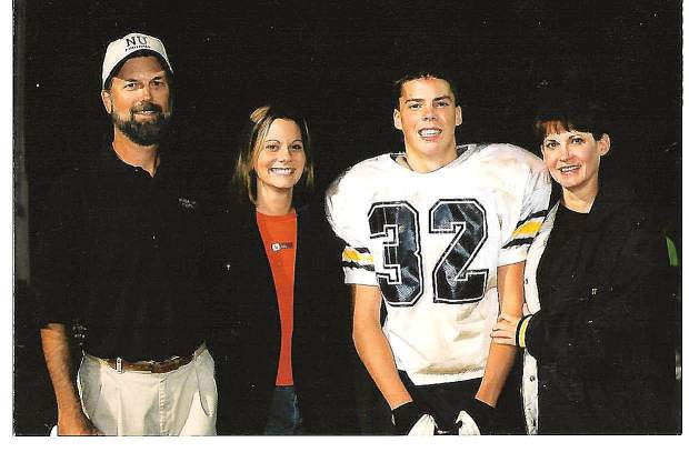 Gary Sharpe with his family. Sharpe coached junior varsity and freshman football at Nevada Union for 36 years (1974-2010). He collected an overall record of 311-37, won 24 league championships, had 13 perfect seasons and put together a 14-year long, 97-game winning streak against league opponents.