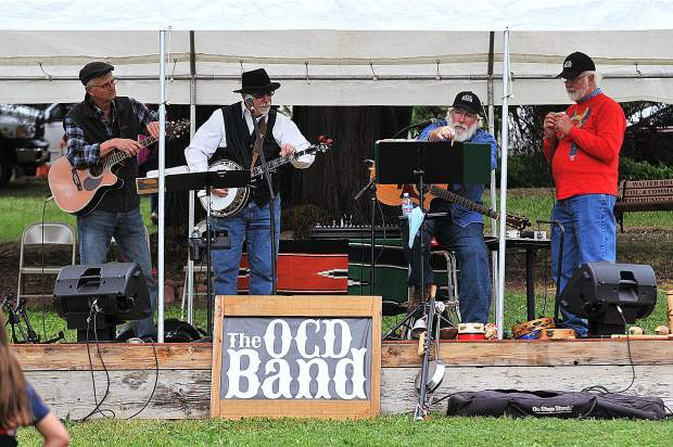 The OCD Band readies to plan another tune on the lawn outside of Smartsville's Immaculate Conception Catholic Church during Pioneer Day.