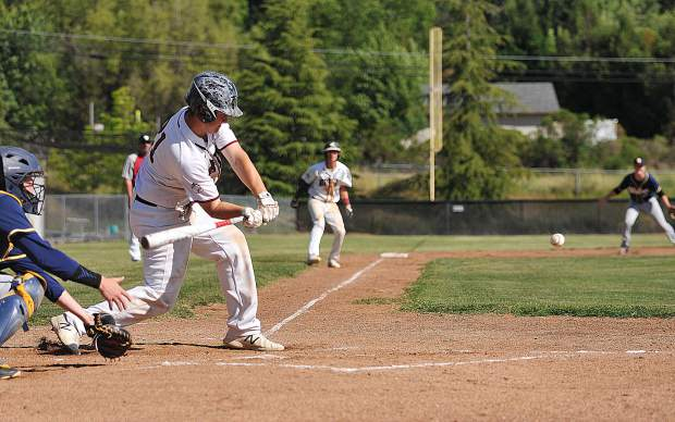 Bear River's Justin Kilgore looks to make a play to bring a baserunner home from third base.