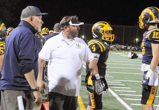 Brad Sparks, middle, brings more that two decades of coaching experience to the position. He spent 17 years coaching various levels at Marysville High School, including four years as the head varsity coach. He has also held multiple positions with the Nevada Union program dating back to 2012. In 2014, Sparks led the NU freshman team to a 9-1 record.