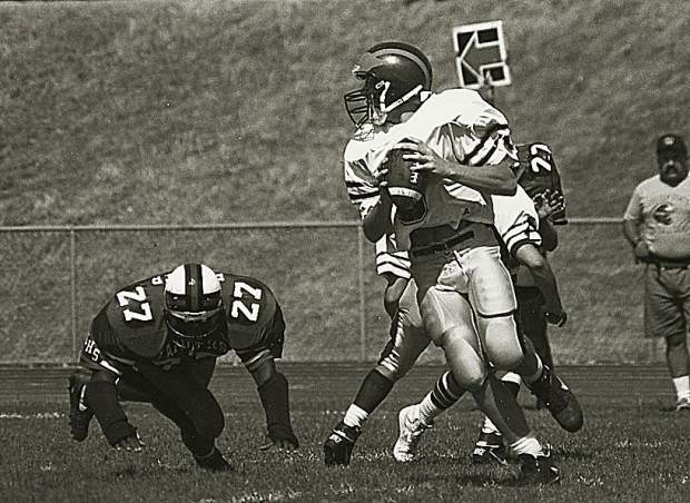 As a senior in 1993, Larsen threw for 1,659 yards, 22 touchdowns and two interceptions as he led the Miners to the section title. He was named the Capital Athletic League MVP, was an Optimist All-Star, was First Team All-NorCal and was named The Union's and The Sac Bee's Offensive Player of the Year.