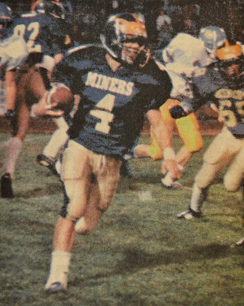 Isaac Ostrom's 2,816 career rushing yards are second all-time at Nevada Union, and his 39 career rushing touchdowns rank third in Miners history. Ostrom is being inducted into the Nevada Union Athletics Hall of Fame Saturday.