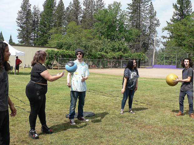 Silver Springs High School students took part in team building exercises.