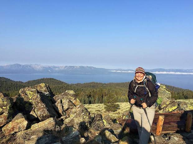 Jesse Locks hiked the Tahoe Rim Trail in 2015. She's set to give a presentation on her experience on Saturday.