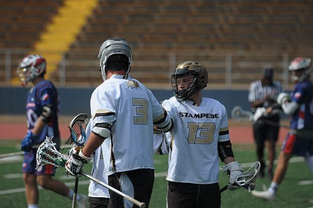 Gold Country Stampede players Toran Maronic, left, and Drew Heaps are two of the team's best offensive weapons.