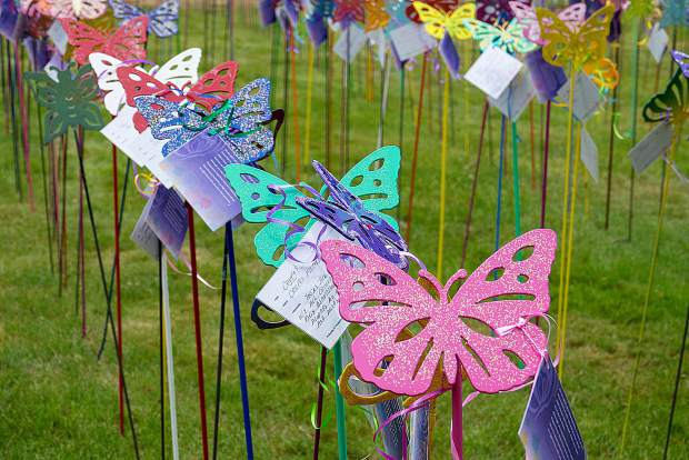 More than 500 buttlerflies adorn the garden at Hooper and Weaver Mortuary, a memorial tradition for the past 18 years. The Butterfly Garden remains open 10 a.m. to 4 p.m. Monday.