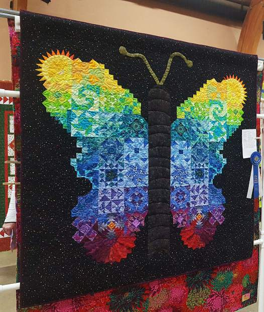 Nevada County Captures: River Blooms; Butterfly Quilt