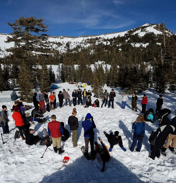 Sierra Academy of Expeditionary Learning students went on a winter camping trip to experience the wet, cold and discomfort many homeless people suffer.