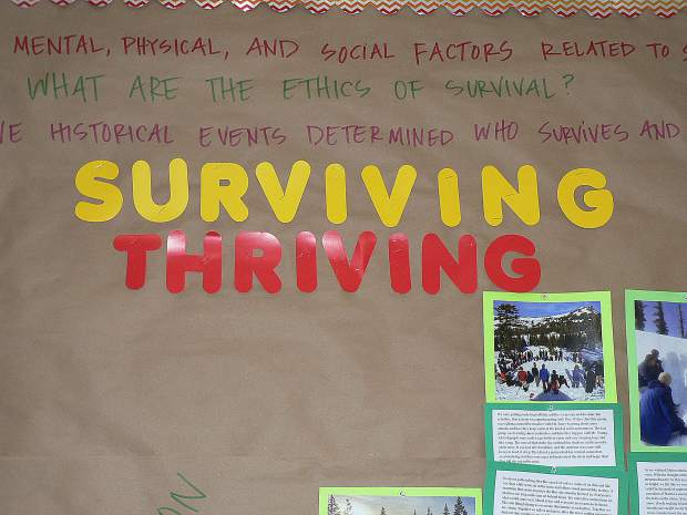 """Sierra Academy of Expeditionary Learning's sophomore expedition was called """"Surviving and Thriving."""""""